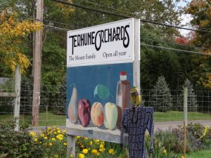 Terhune Orchards Road Sign